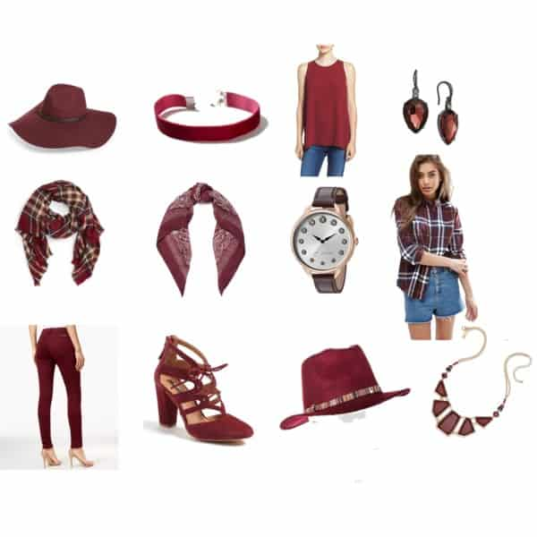 Burgundy/ oxblood- Saturday shopping