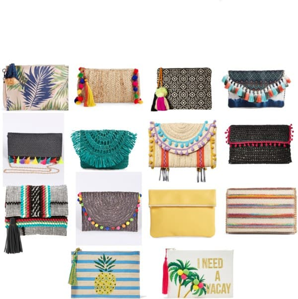 Colorful summer clutches- Saturday shopping