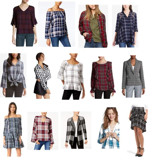 Fall print -Plaid with trendy twists- Saturday shopping