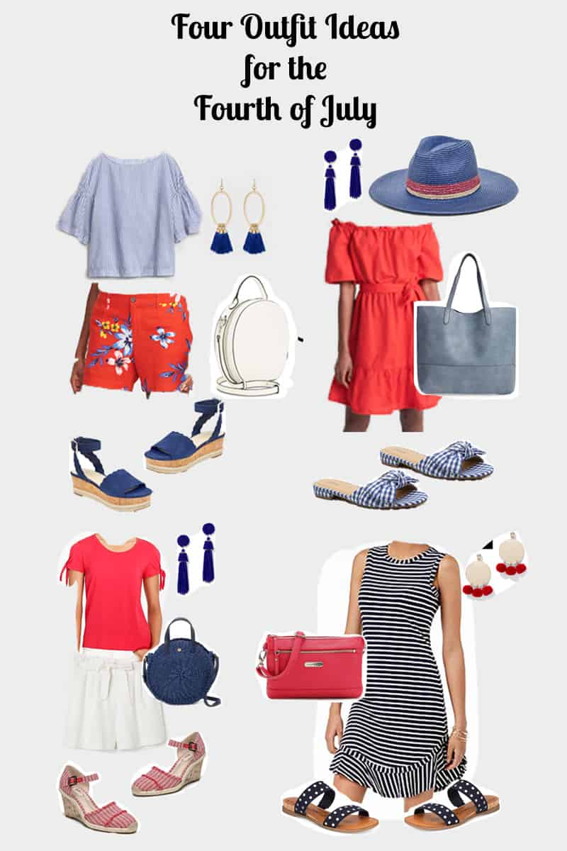Four cute outfits for the Fourth of July