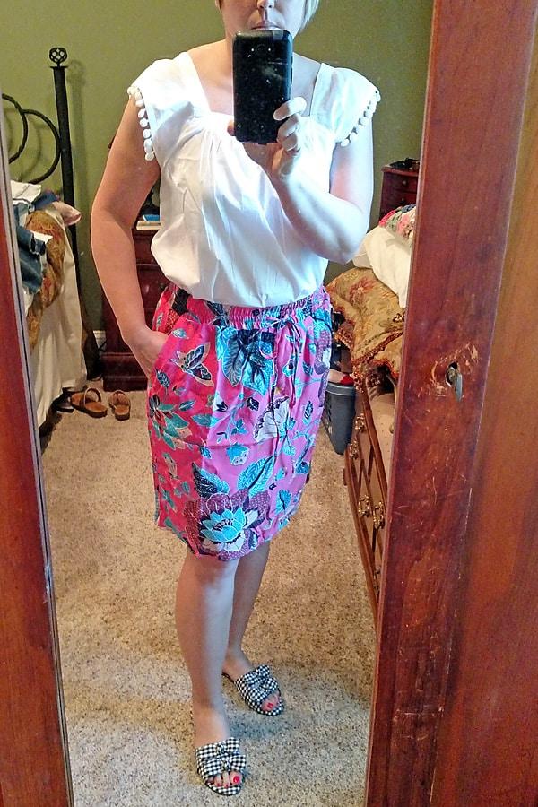 Loft Butterfly garden pocket skirt