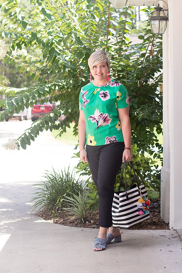 How to pattern mix with gingham mules