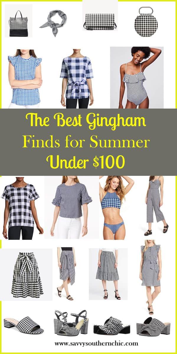 the best gingham finds for summer under $100