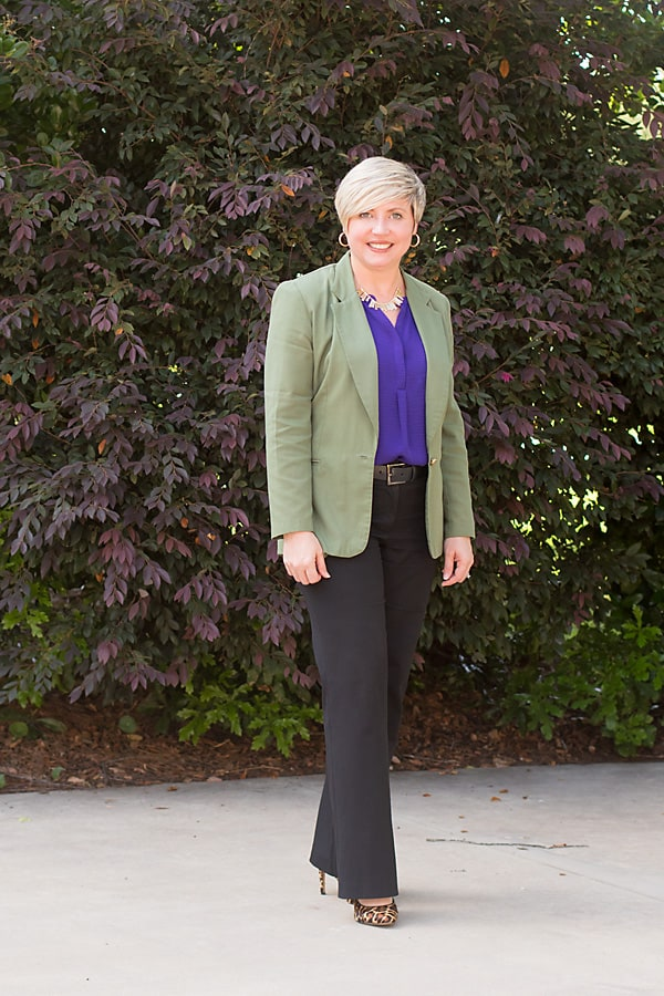 leopard pumps, olive blazer, work wear, office outfit