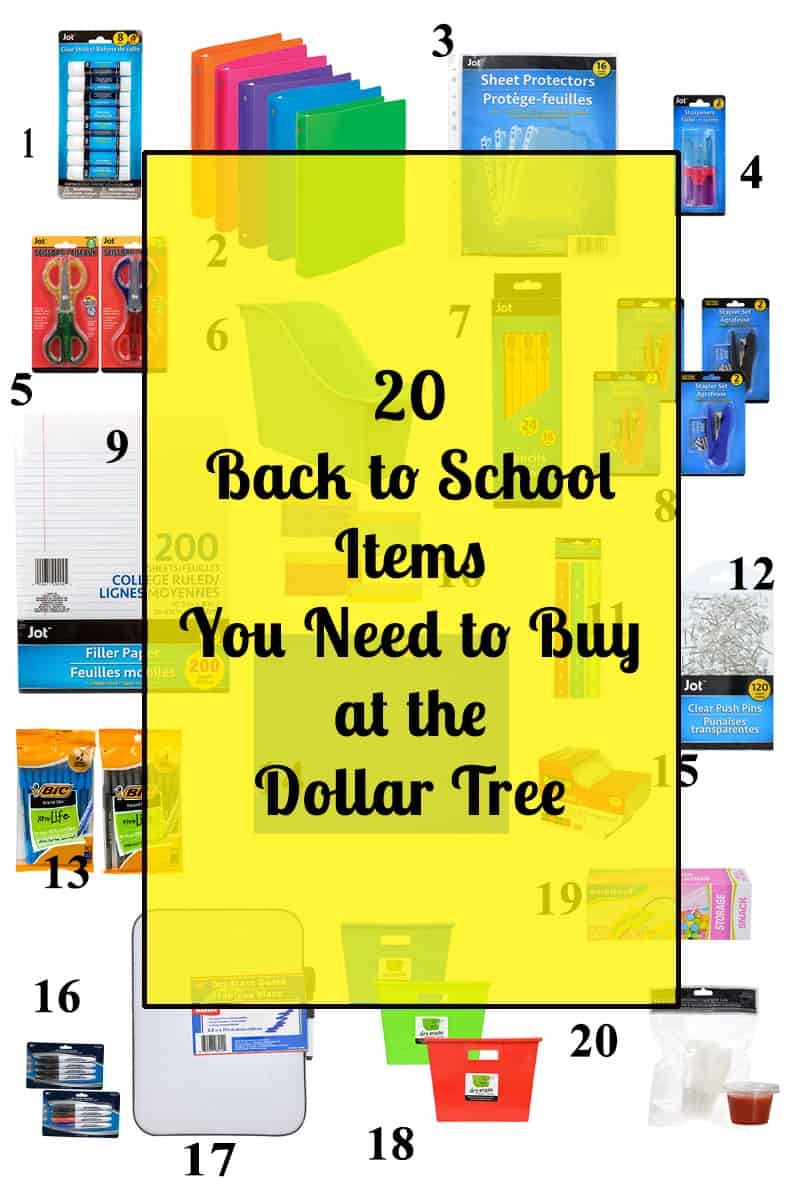 20 Back to School Items You Need to Buy at the Dollar Tree