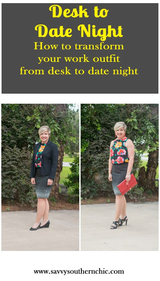 How to easily transform your work outfit from desk to date night outfit