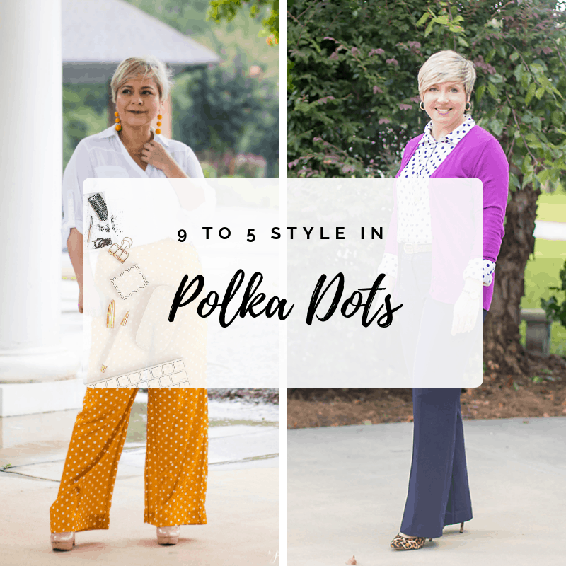 9 to 5 Style: Polka dot office attire
