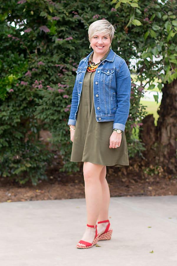 pinterest inspired look, olive dress
