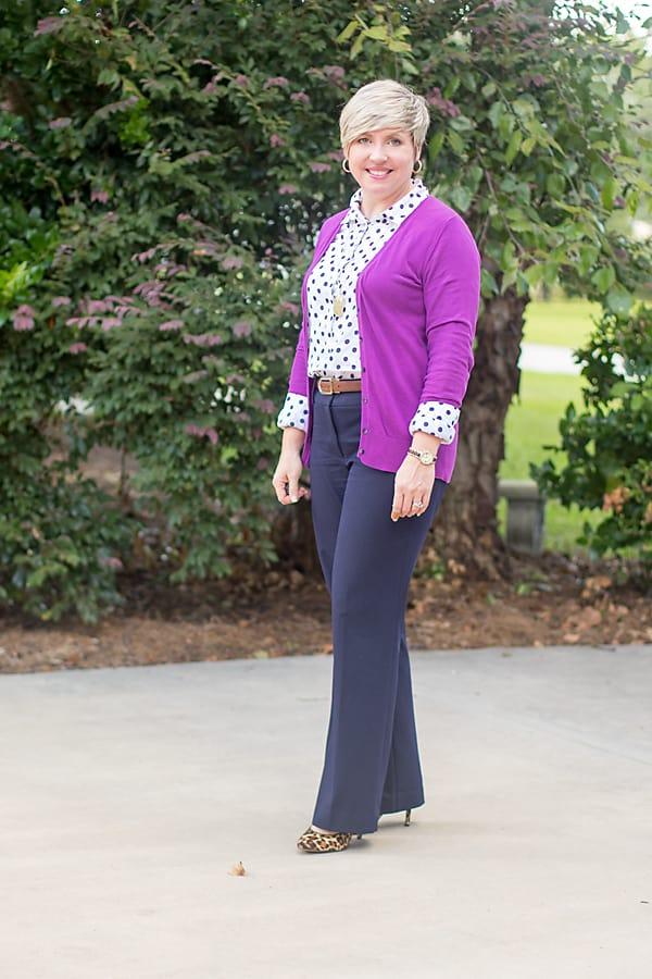 polka dot office attire