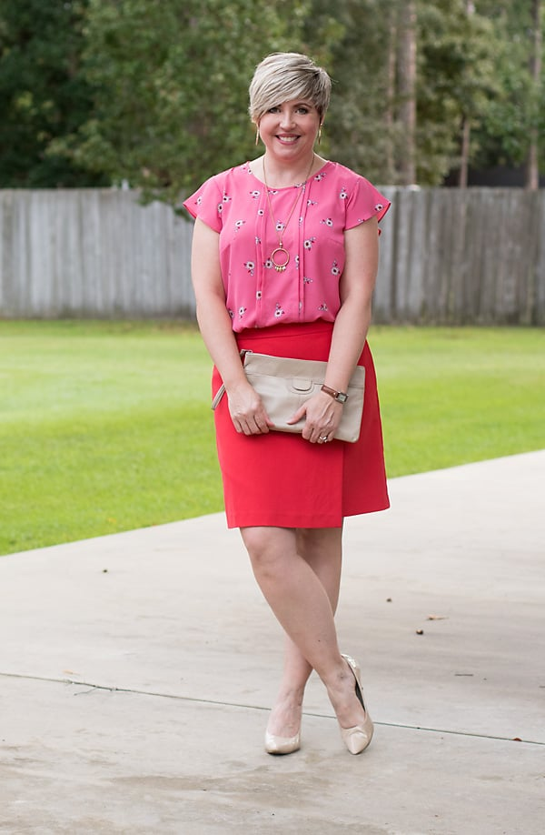 skirt outfit, womens office outfit