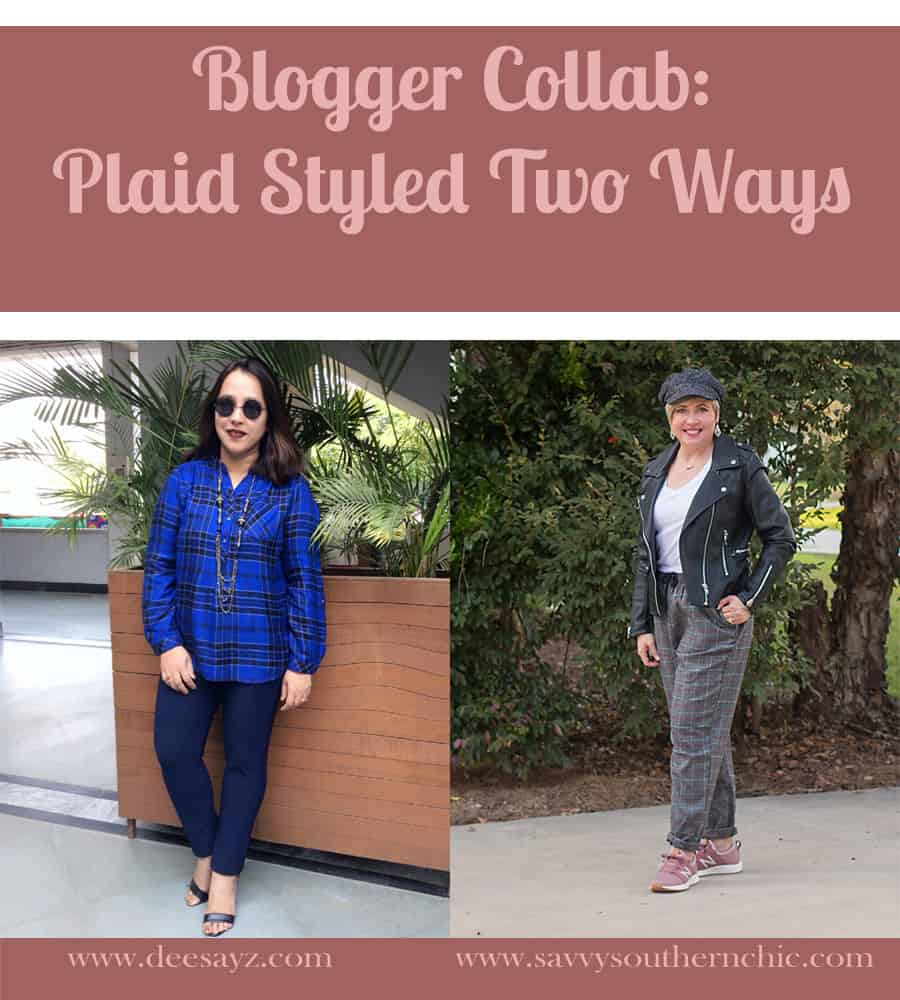 Blogger collab: Plaid two ways