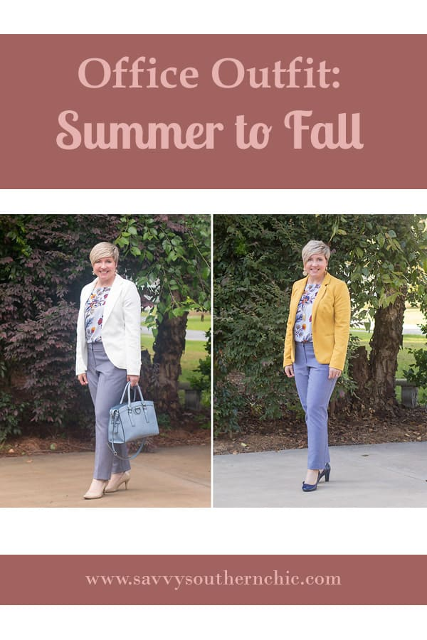 How to easily take an office outfit from summer to fall