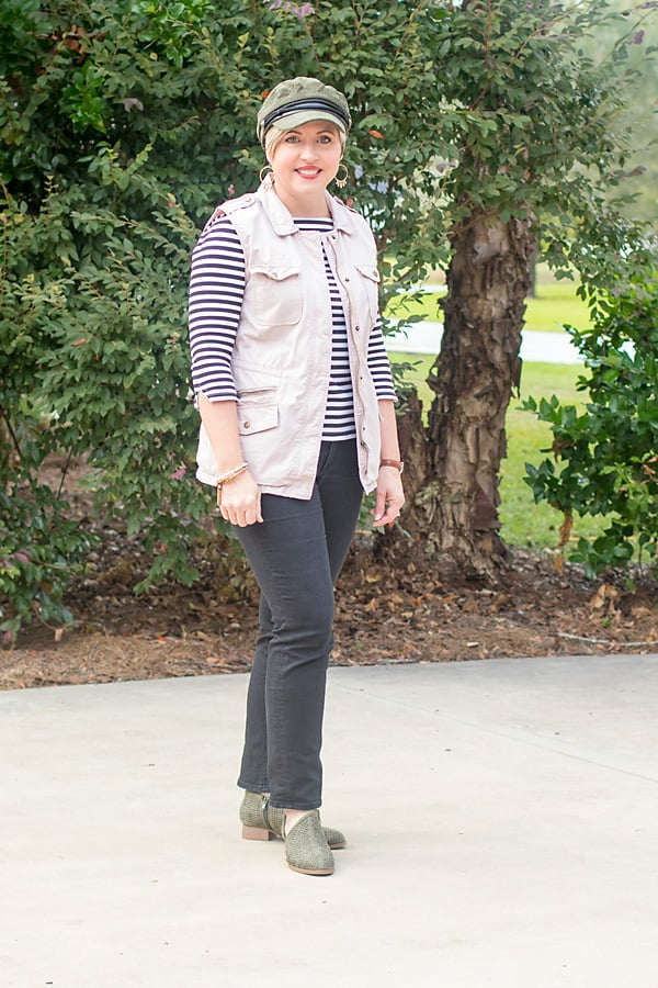 vest outfit, fall outfit