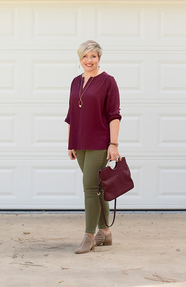 the color burgundy, fall fashion