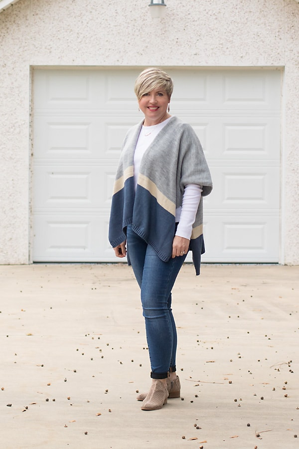 poncho, fall outfit