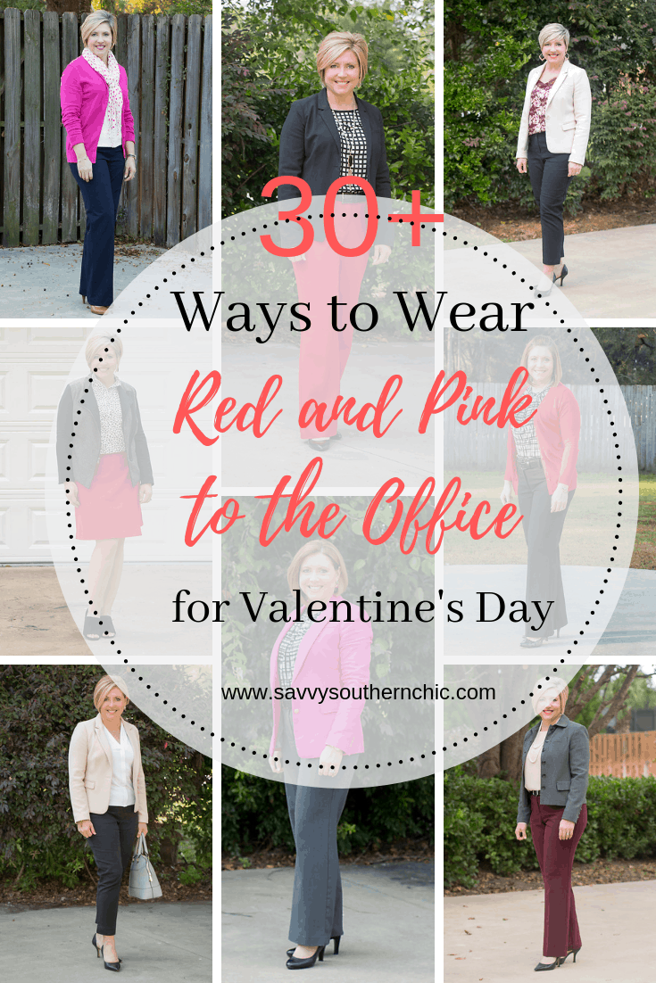 Mega List of Ways to Wear Red and Pink to the Office for Valentine's Day