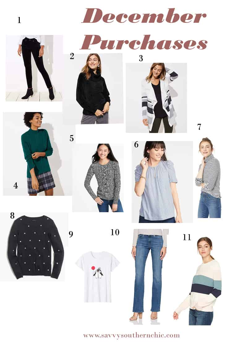 December purchases, sweater reviews