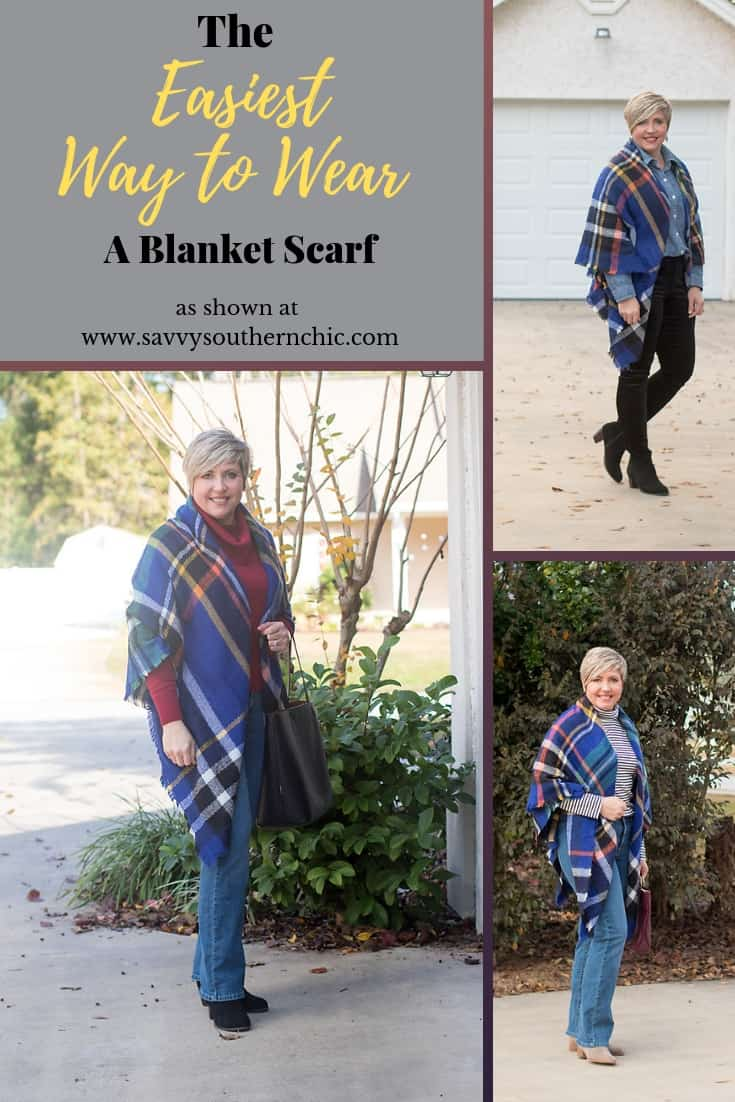 easiest way to wear a blanket scarf