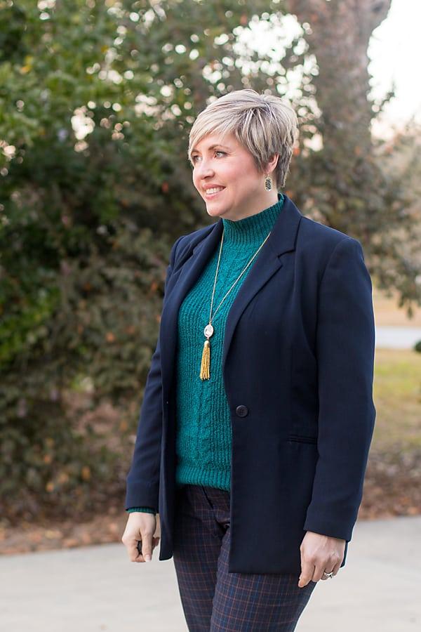 tassel necklace and Kendra Scott earrings
