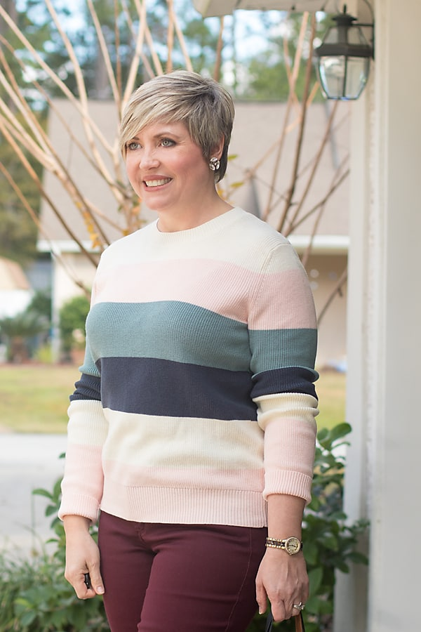 striped color block sweater from Amazon