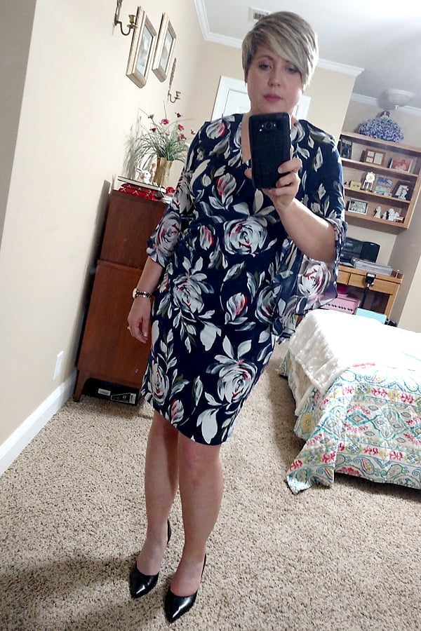floral wrap dress with ruffle sleeves Amazon Prime Wardrobe