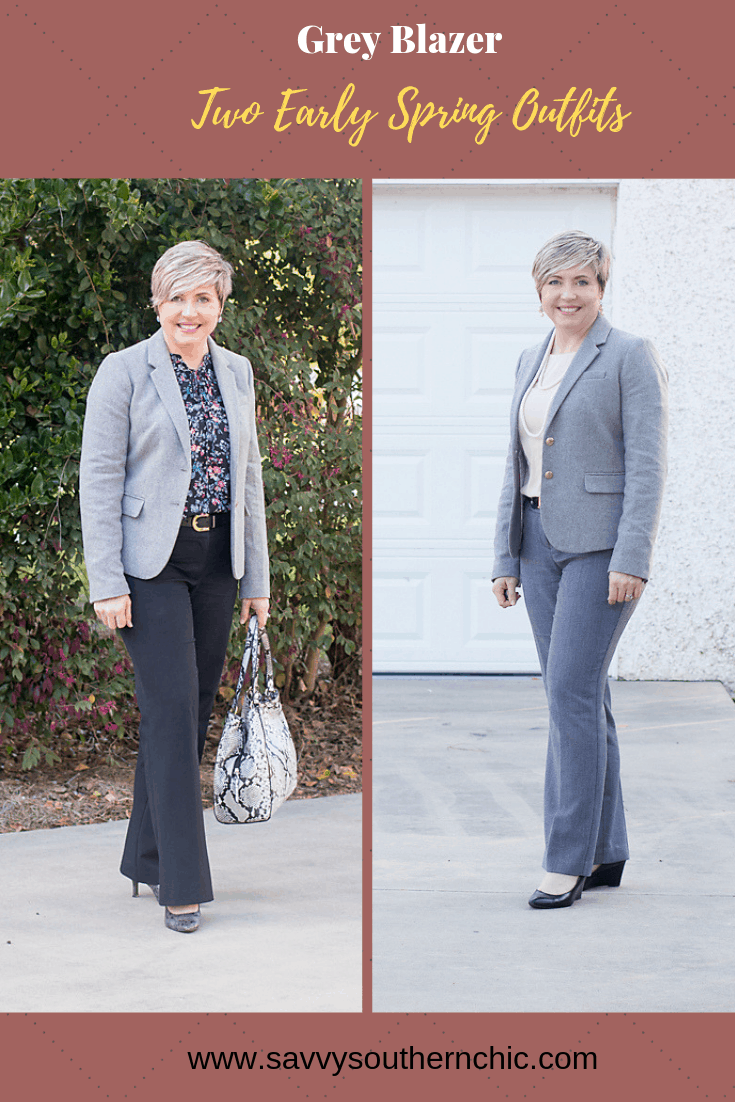 One grey blazer/ Two effortless outfits for early spring