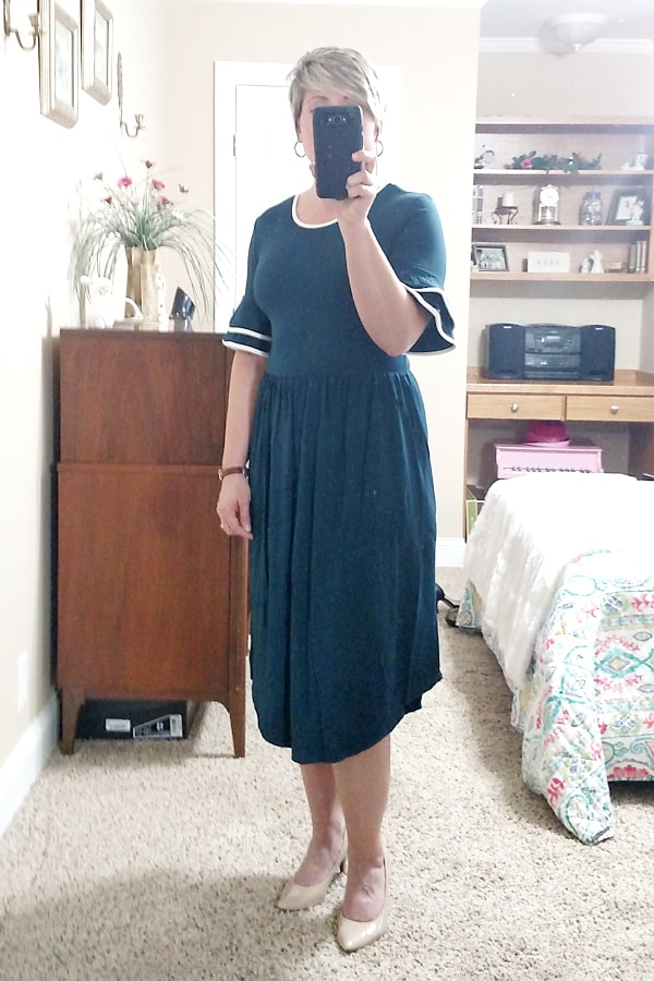 comfy ruffle trim affordable spring/Easter dresses