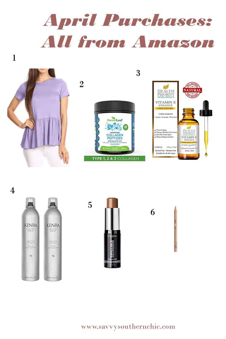 April Purchases: Amazon beauty supplies