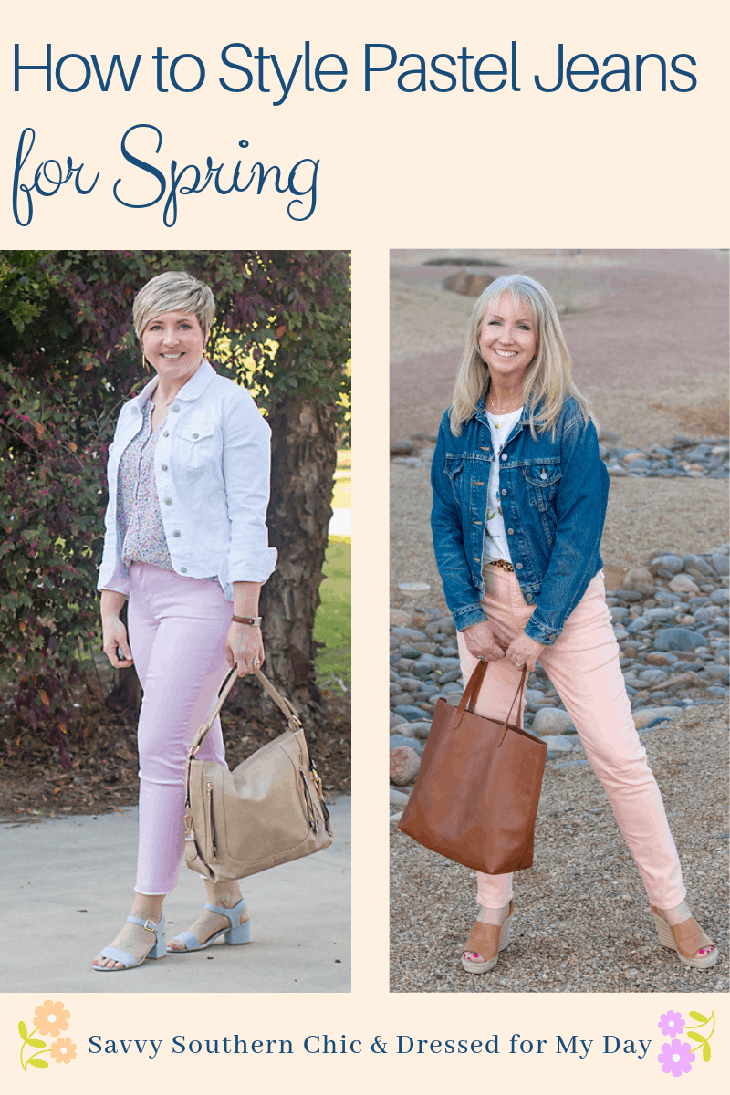 Colored jeans for spring
