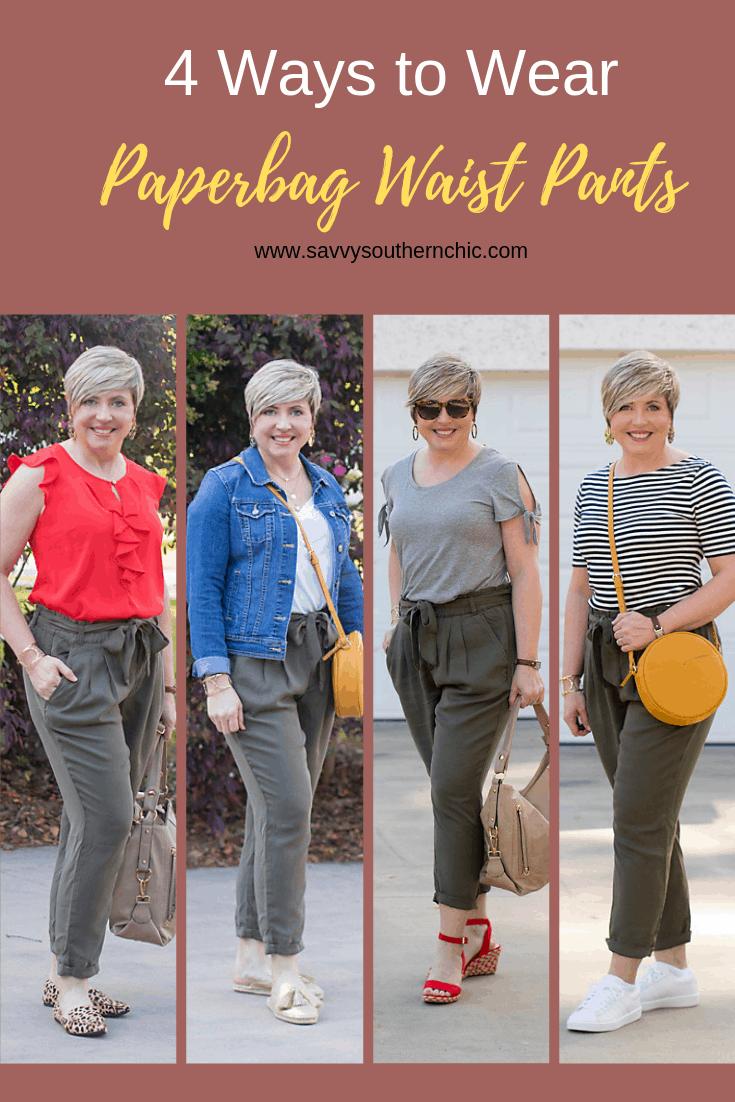 4 ways to wear paper bag waist pants