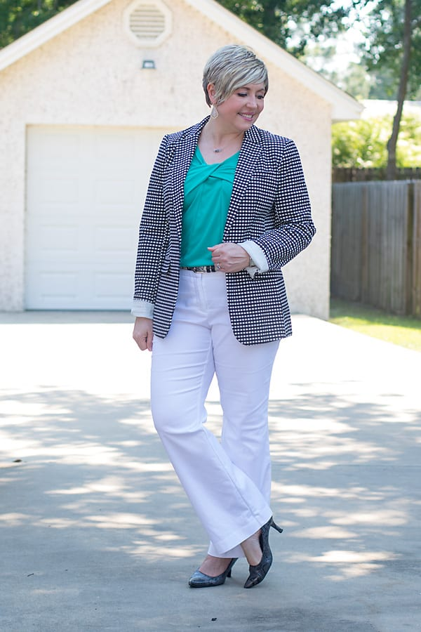 white pants office outfit