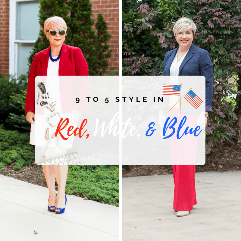 9 to 5 style in red, white and blue