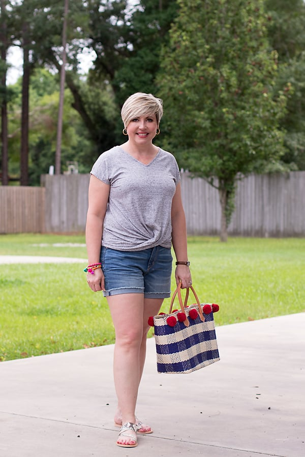 red, white and blue outfits for Fourth of July