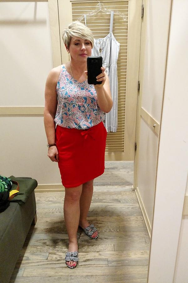 Loft skirt and cami