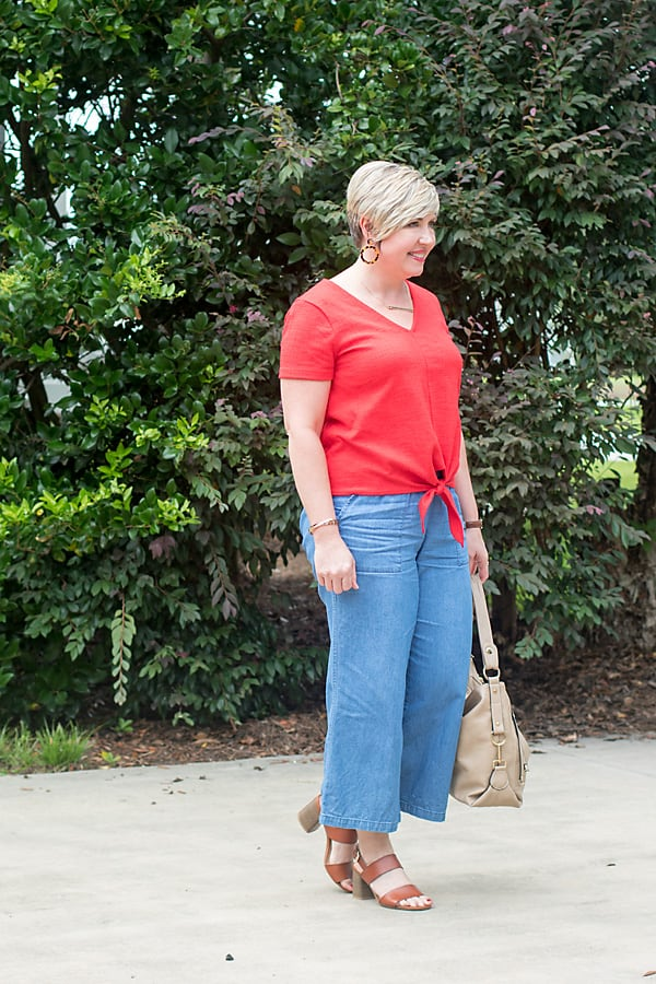 wide leg pants outfit