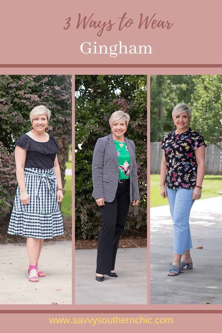 Three Ways to Wear Gingham