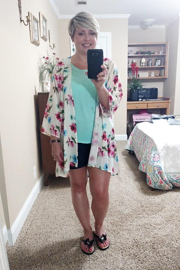 kimono summer outfit