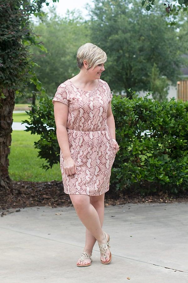 t-shirt dress with sandals