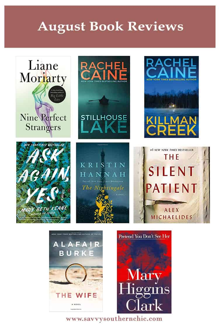 August book reviews thrillers