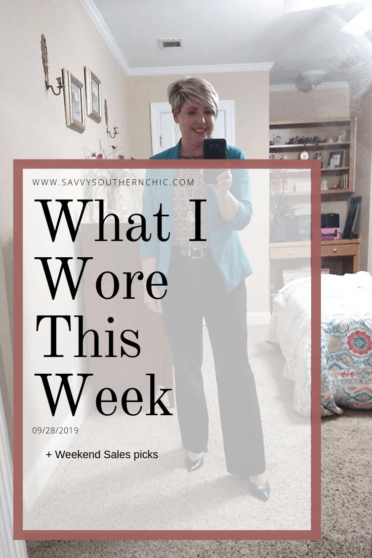 What I Wore This Week + Weekend Sales