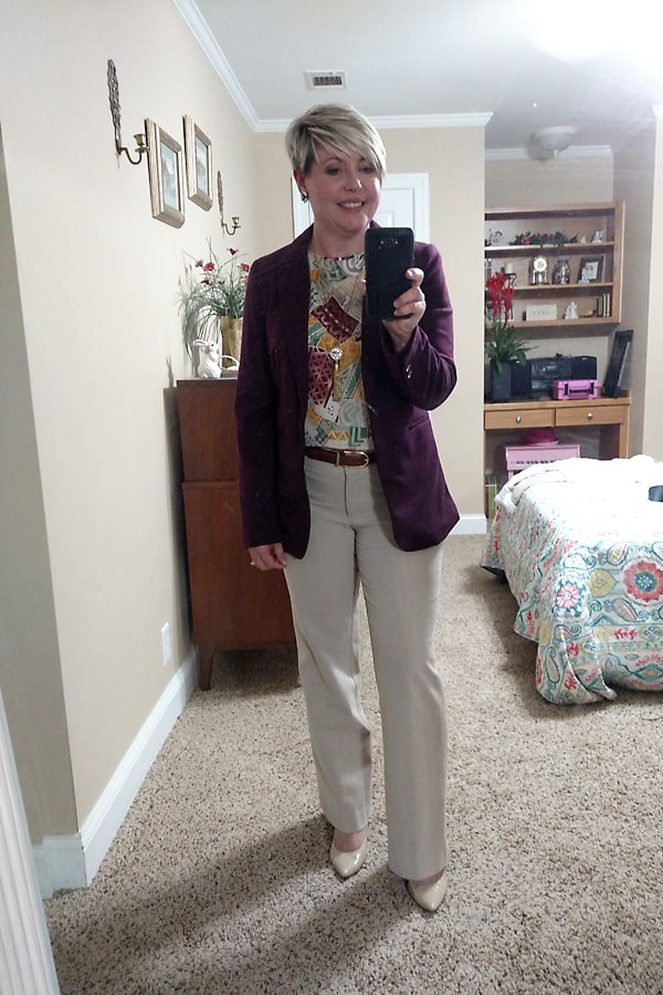 fall work outfit
