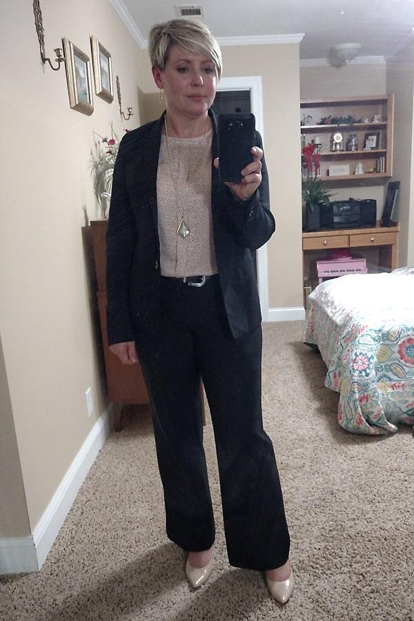 black suit business wear