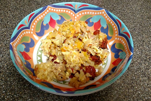 bright bowl with casserole