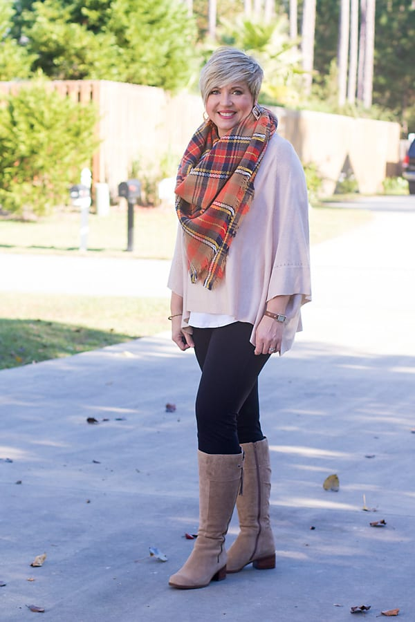 tall boots with leggings
