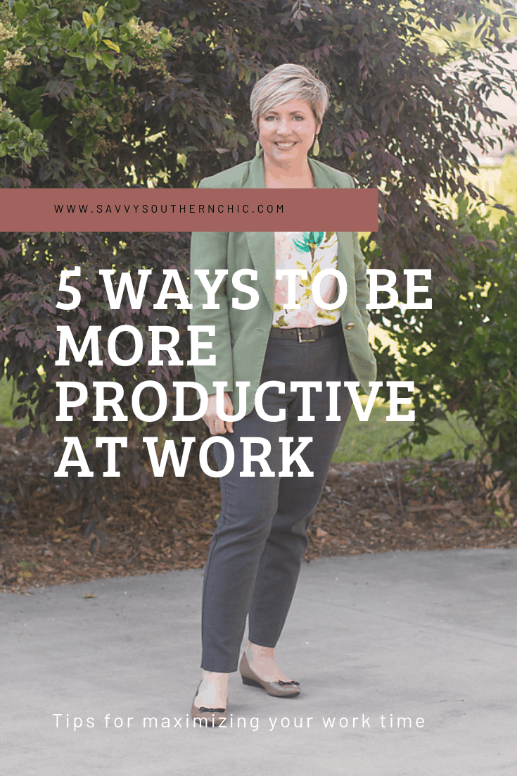 5 ways to be more productive at work