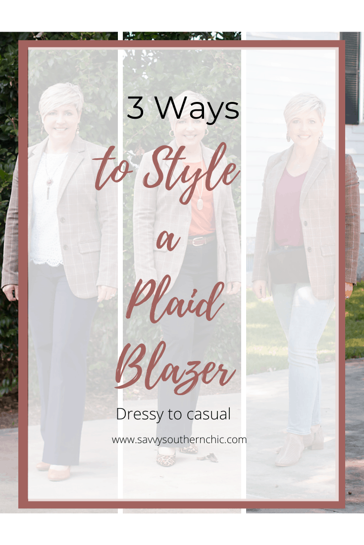 3 Ways to Style a Plaid Blazer: Business to Casual