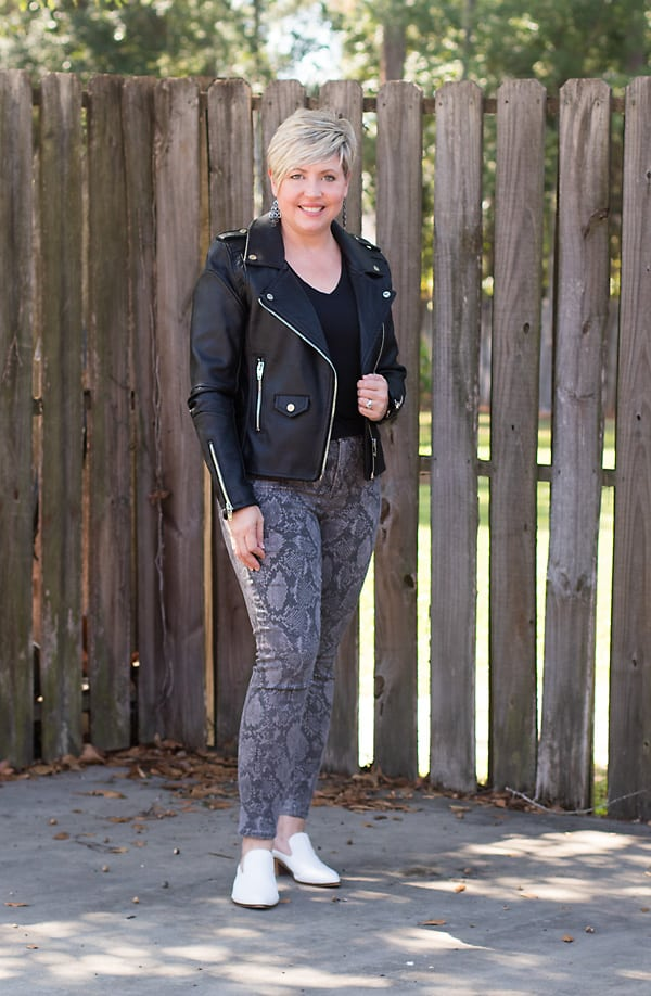 moto jacket fall outfit
