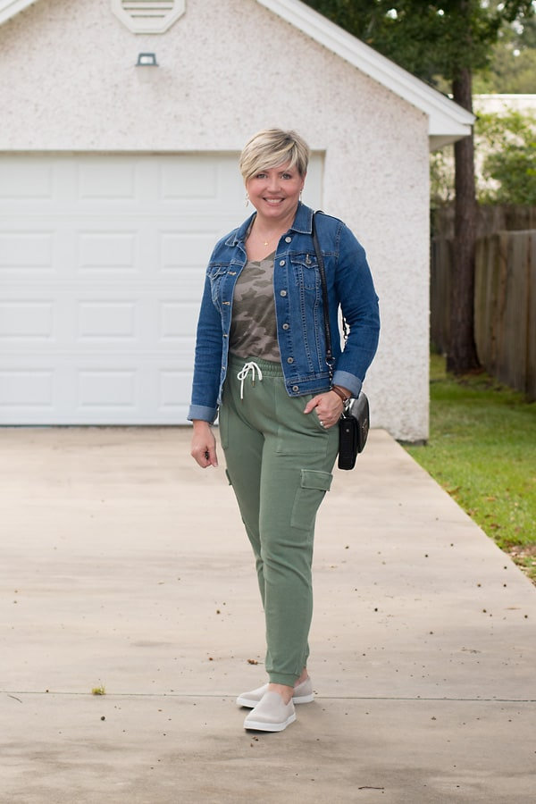 Save money on clothing with credit card rewards. Old Navy joggers purchased with rewards.