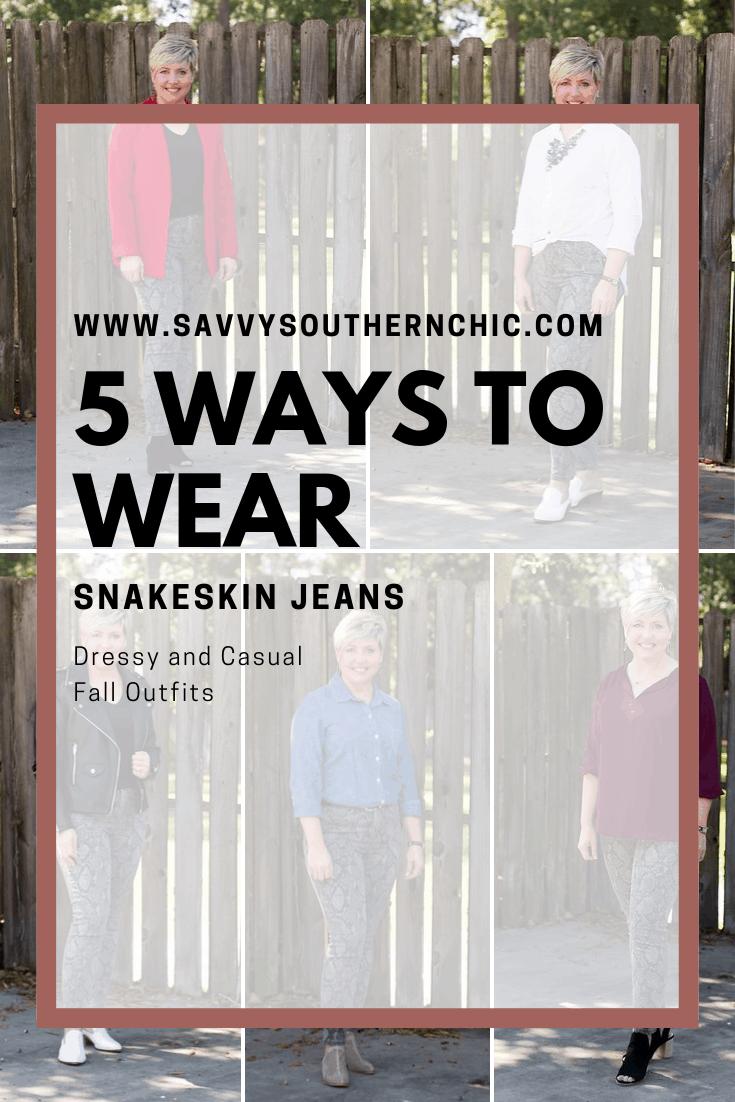 Snakeskin Jeans: 5 Ways to Wear Them