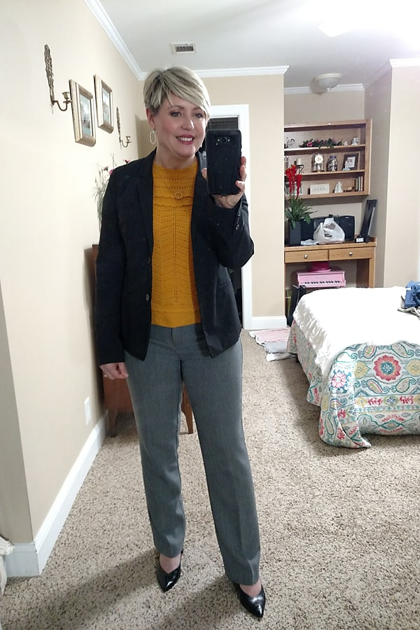 over 40 women's fall office outfit